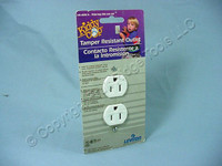 Leviton White Tamper Resistant Receptacle Outlet NEMA 5-15R 15A 5321-W Carded