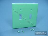 Leviton GREEN UNBREAKABLE 2-Gang Toggle Switch Nylon Cover Wallplate 80709-GN