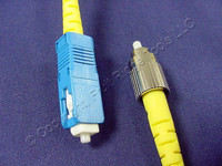 2M Leviton Fiber Optic Singlemode Simplex Patch Cable Cord SC FC UPC UPSCF-S02