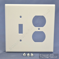 Leviton MIDWAY White 2-Gang Switch Receptacle Wallplate Outlet Switchplate Cover 80505-W