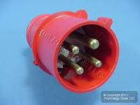 Leviton Industrial Grade Pin & Sleeve Splashproof Plug 32A 380/415V SP432P6