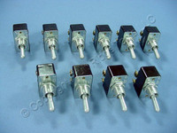 10 Leviton Double Pole Single Throw DPST Heavy Duty Toggle Switches ON-OFF 15A-125V 10A-250V 3/4HP 125/250VAC 5741