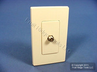 Leviton Light Almond Decora Wallplate Insert F-Type Coaxial Cable Video Jack 80381-T