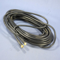 Leviton Black 50-Foot Digital Coaxial Video Patch Cord Cable GOLD RG6 40871-50E