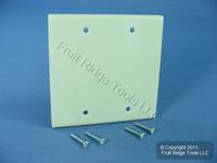 Leviton Almond 2-Gang Blank Cover Plastic Box Mount Thermoset Wallplate 82025