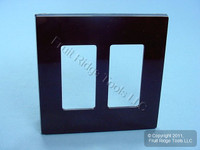 Leviton Brown 2-Gang Midway Size Decora Screwless Wallplate Cover GFCI GFI SJ262-S0 SJ262-S