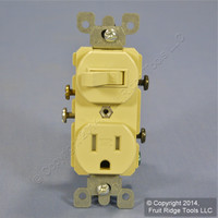 Leviton Ivory TAMPER RESISTANT COMMERCIAL Wall Toggle Light Switch Outlet Receptacle 15A T5225-I