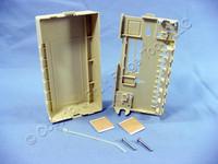 New Leviton Ivory 6-Port Surface Mount Data Telephone Jack Housing Box 41089-SIP