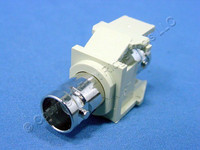 Leviton Ivory Quickport Snap-In BNC Video Connector Jack Female Nickel Plated 41084-BIF
