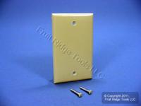 Leviton Ivory 1-Gang Blank Unbreakable Wall Plate Box Mount Nylon Cover 80714-I