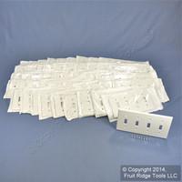 50 Leviton White Standard 4G Toggle Light Switch Cover Plastic Wallplates 88012
