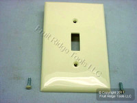 Leviton Almond UNBREAKABLE Midway Switch Cover Wallplate Thermoplastic Nylon Switchplate PJ1-A