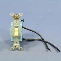 Leviton Ivory INDUSTRIAL PIGTAIL Single Pole Toggle Light Switch 15A 120/277V AC 1241-2I