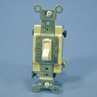 Leviton Light Almond 4-WAY COMMERCIAL Grade Smooth Toggle Wall Light Switch 15A 120/277V AC 54504-2T