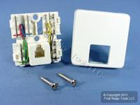 Leviton White 6-Wire Surface Mount Phone Jack Telephone C2645-W