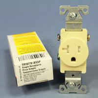 Cooper Ivory TAMPER RESISTANT COMMERCIAL Single Outlet Receptacle NEMA 5-20R 20A 125V TR1877V-BXSP