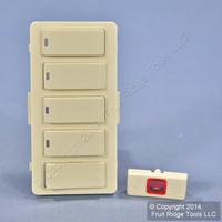 Leviton Light Almond Vizia RF+ 4-Button 4-Scene Controller Color Change Kit VZKIT-S4T