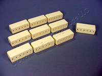 10 Leviton Almond Polarized Triple Tap Outlet Adapters 1-15R 15A 2P2W 125V 63-A