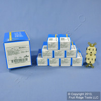 10 Leviton Ivory LEV-LOK INDUSTRIAL Receptacles Duplex Outlets 20A M5362-I