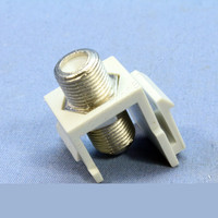 Cooper ASPIRE White Satin (Pale Gray) TV Video Connector F-Type Coaxial Cable Jack 9555WS