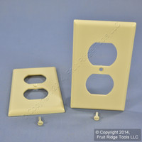 2 Leviton Ivory EXTRA DEEP 1-Gang Duplex Receptacle Cover Outlet Wallplates 86303