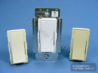 Leviton White/Ivory/Almond Vizia Light Dimmer Switch Hi-Lume Eco-10 Fluorescent 8A 120V VZH08-1LX
