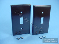 2 New Leviton Brown EXTRA DEEP Toggle Switch Covers Wall Plate Switchplate 85301