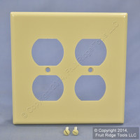Leviton MIDWAY 2G Ivory Duplex Receptacle Plastic Wallplate Outlet Cover 80516-I