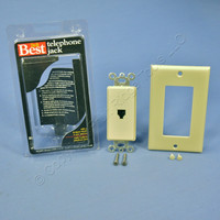 Do It Best Ivory 1-Gang Decorator Type 625 Phone Jack Telephone Wall Plate 522457