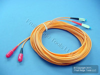 10M Leviton Fiber Optic Patch Cable Cord ST SC 62.5 Micron Duplex Multimode CTD62-10M