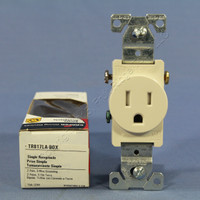 Cooper Light Almond TAMPER RESISTANT Commercial Single Receptacle NEMA 5-15R 15A TR817LA