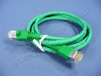 Leviton Green 5' Cat 6+ Extreme Ethernet LAN Patch Cord Cable Cat6 Plus 5 Ft 62460-5G
