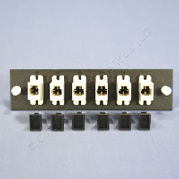 Leviton OPT-X MT-RJ MM Coupling Fiber Optic Patch Panel Plate Loaded 12-Fiber Dual Polarity 5F100-6MC