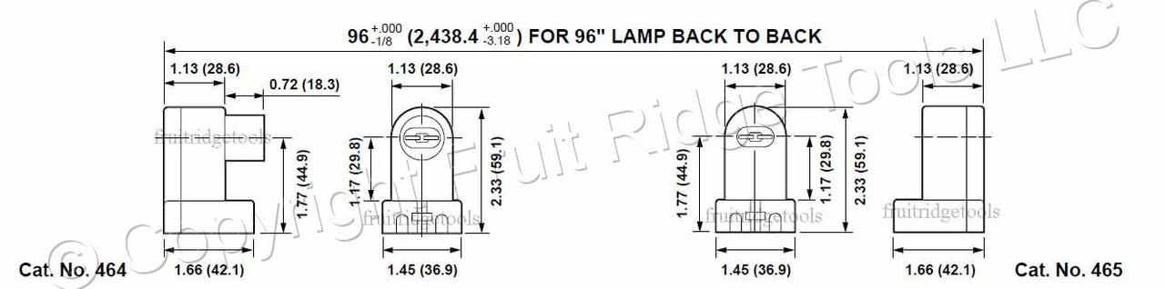 New Leviton White HO VHO T8 T12 Fluorescent Lamp Holder Light Socket Plunger 464