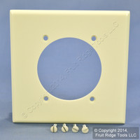 """Leviton Almond 2.465"""" Power Outlet Cover 2-Gang Receptacle Wall Plate 80530-A"""