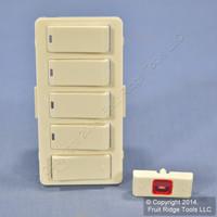 Leviton Light Almond Vizia RF+ 4-Button 4-Zone Controller Color Change Kit VZKIT-Z4T