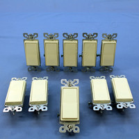 10 Eagle Almond Single Pole Decorator Rocker Light Switches 15A 120/277VAC 6501A