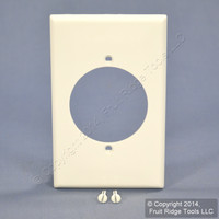 Leviton White Range Outlet Cover Dryer Unbreakable Receptacle Wallplate 80728-W
