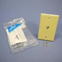 Leviton Ivory Type 625B4 Telephone 4-Wire Phone Jack Wall Plate 6P4C 4625B-44I