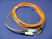 3M Leviton Fiber Optic Multi-Mode Duplex Patch Cable Cord MT-RJ SC 50 50DCM-M03