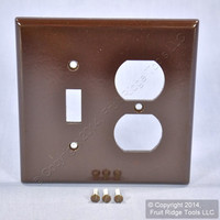 Leviton MIDWAY Brown 2G Toggle Switch Receptacle Wallplate Outlet Cover 80505