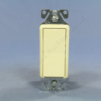 Cooper Almond RESIDENTIAL Decorator Rocker Wall Light Switch 3-Way 15A 7503A 120/277V Bulk