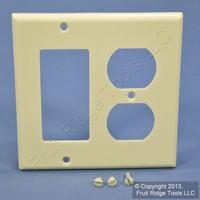Leviton Decora Almond GFCI Receptacle Plastic Wallplate Outlet GFI Cover 80455-A