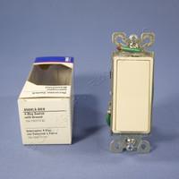 Eagle Light Almond Decorator Rocker Wall Light Switch 4-WAY 15A 120/277V 6504LA