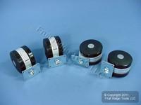 "4 Shepherd 150lb Rated 3-1/4"" Lockable Swivel & Fixed Twin Wheel Casters Q90278"