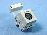 Leviton Gray QuickPort 4-Pin S-Video Jack 110 Termination Cat 5 5e 6 40734-SVG