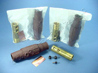 3 Leviton Brown ECT 17 Series Female Cam Plugs Double Set Screw 690A 600V 17D24-H