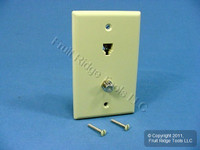 Leviton Ivory Telephone F-Type Coax Cable CATV Video Jack Wallplate Type 625D 40258-I