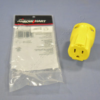 Cooper Arrow Hart Yellow Corrosion Resistant QuickGrip Connector NEMA 5-15 15A 125V AH5969CR