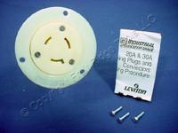 Leviton L9-20 Locking Flanged Outlet Receptacle Twist Turn Lock Plug Base NEMA L9-20R 20A 600V 2356
